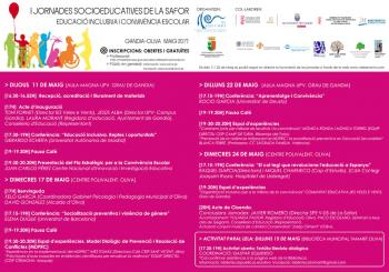 1 Jornadas socioeducativas de la Safor: Educació inclusiva i convivència escolar.