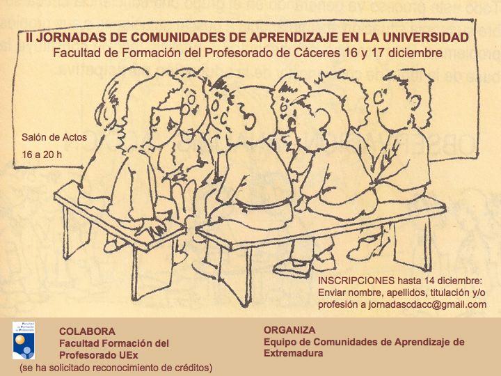 II Jornadas de Comunidades de Aprendizaje. Cáceres.